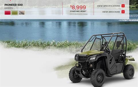 2017 Honda Pioneer™ 500 in Scottsdale, Arizona