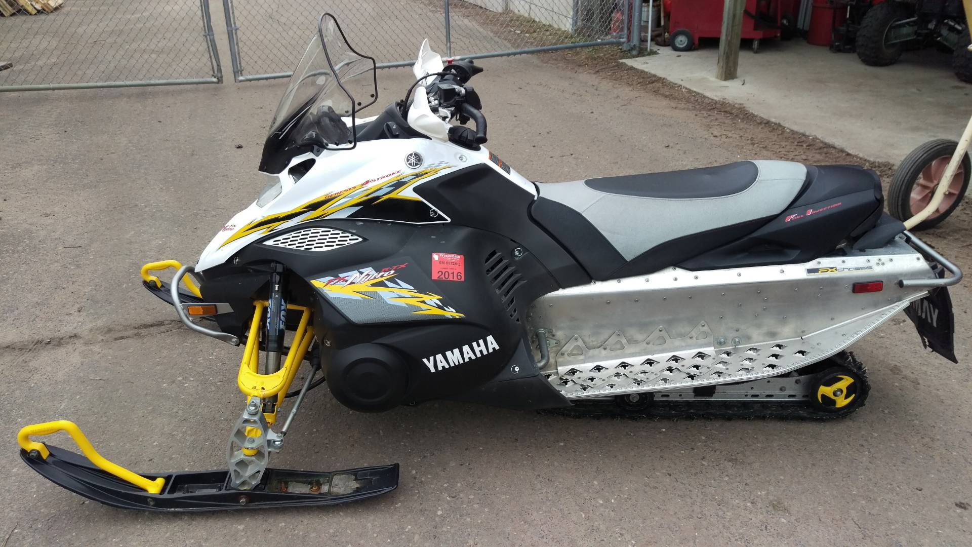 2008 yamaha fx nytro snowmobiles trego wisconsin sno1466a for Yamaha dealers in delaware