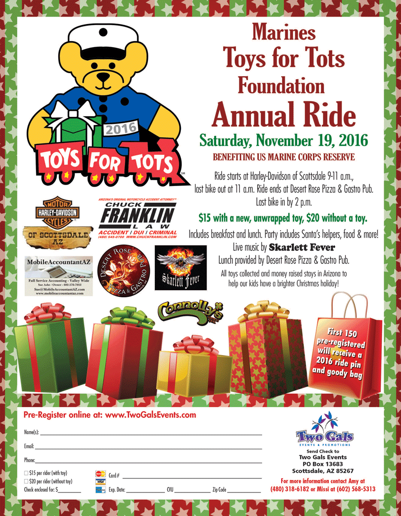 Toys For Tots Registration Form : Come to our events in scottsdale az