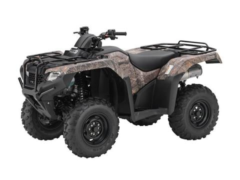 2016 Honda FourTrax® Rancher® 4x4 DCT IRS EPS Camo (TRX420FA6) in Crystal Lake, Illinois
