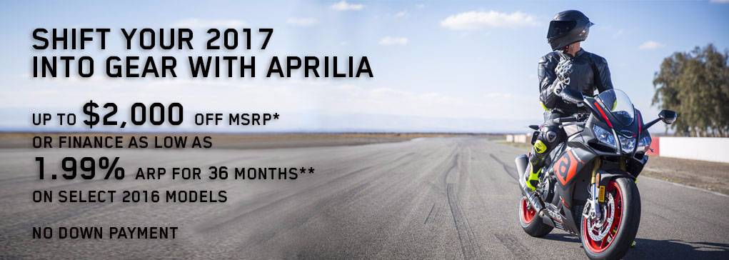 Shift your 2017 into Gear with Aprilia