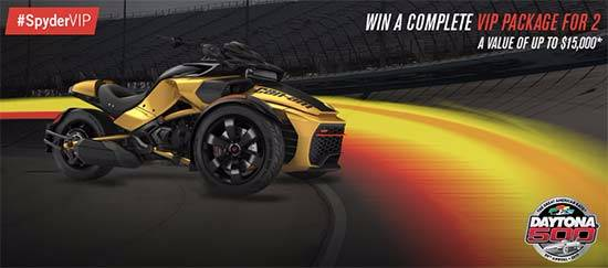 Be VIP with Can-Am® Spyder® Sweepstakes!