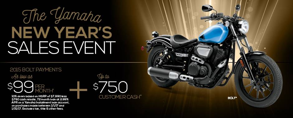 The Yamaha NEW YEAR'S SALES EVENT - Street Motorcycle - Current Offers & Factory Financing
