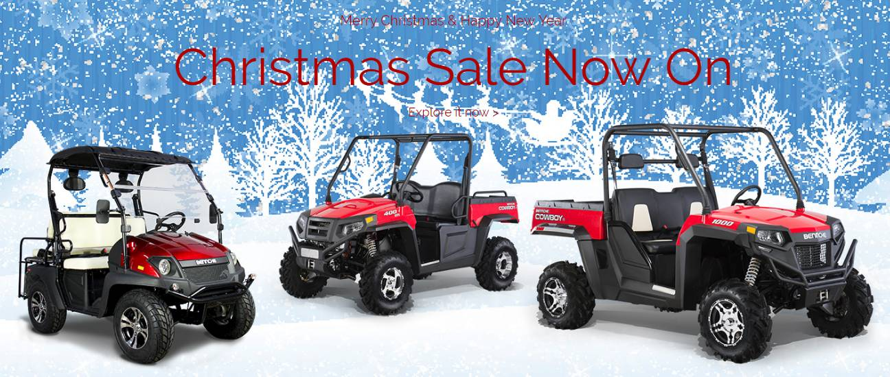 Bennche UTVs and ATVs - 12.99% for 36 Months