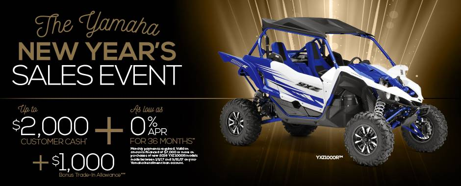 The Yamaha NEW YEAR'S SALES EVENT - Pure Sport SxS - Current Offers & Factory Financing