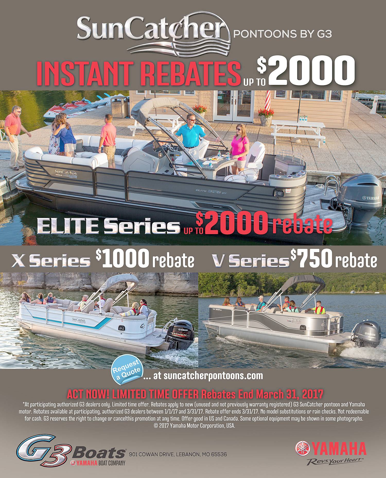 Sun Catcher Pontoons By G3 - Instant Rebates Up to $2000