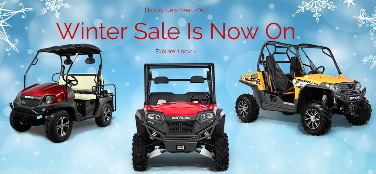 Bennche UTVs and ATVs - 10.99% for 36 Months