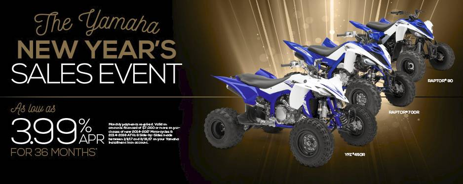 The Yamaha NEW YEAR'S SALES EVENT - Sport ATV - 3.99% APR - MY2015-2016
