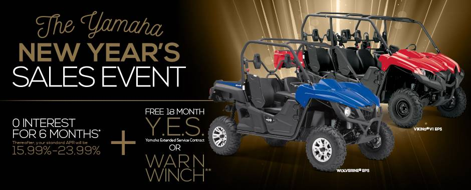 The Yamaha NEW YEAR'S SALES EVENT - Recreation & Utility SxS - Current Offers & Factory Financing