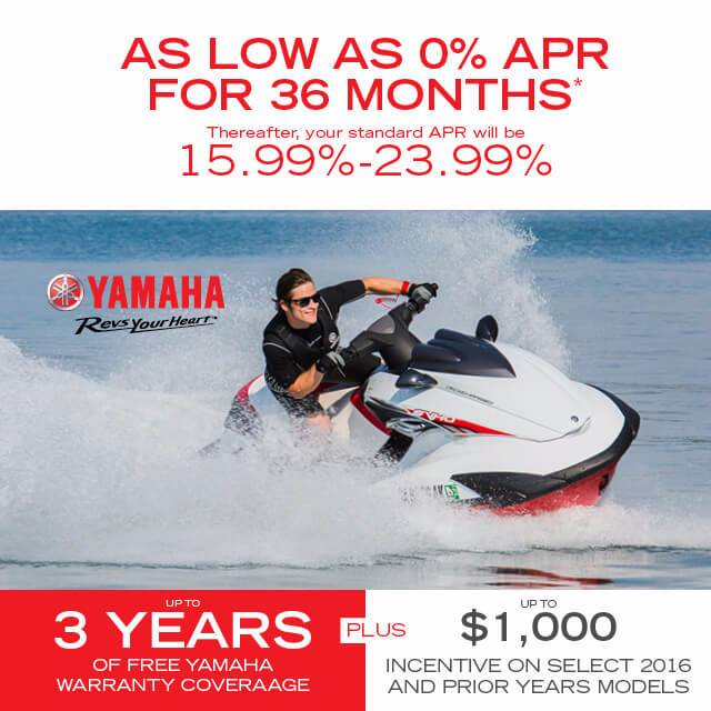 Yamaha Waverunners - As Low As 0% APR For 36 Months - MY2011-2016