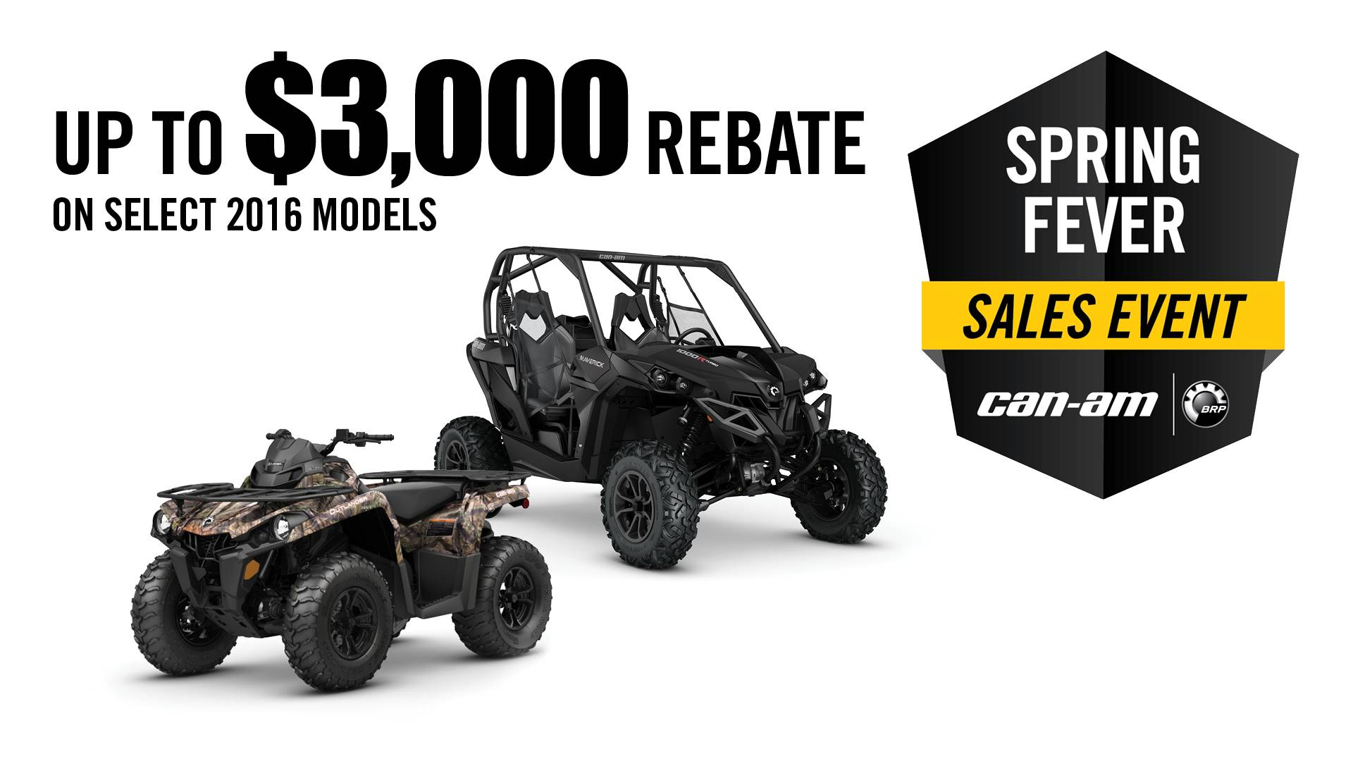 Can-Am Spring Fever Sales Event ATV Offer