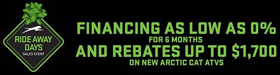 Arctic Cat ATVs - Ride Away Days Sales Event - Holiday Special