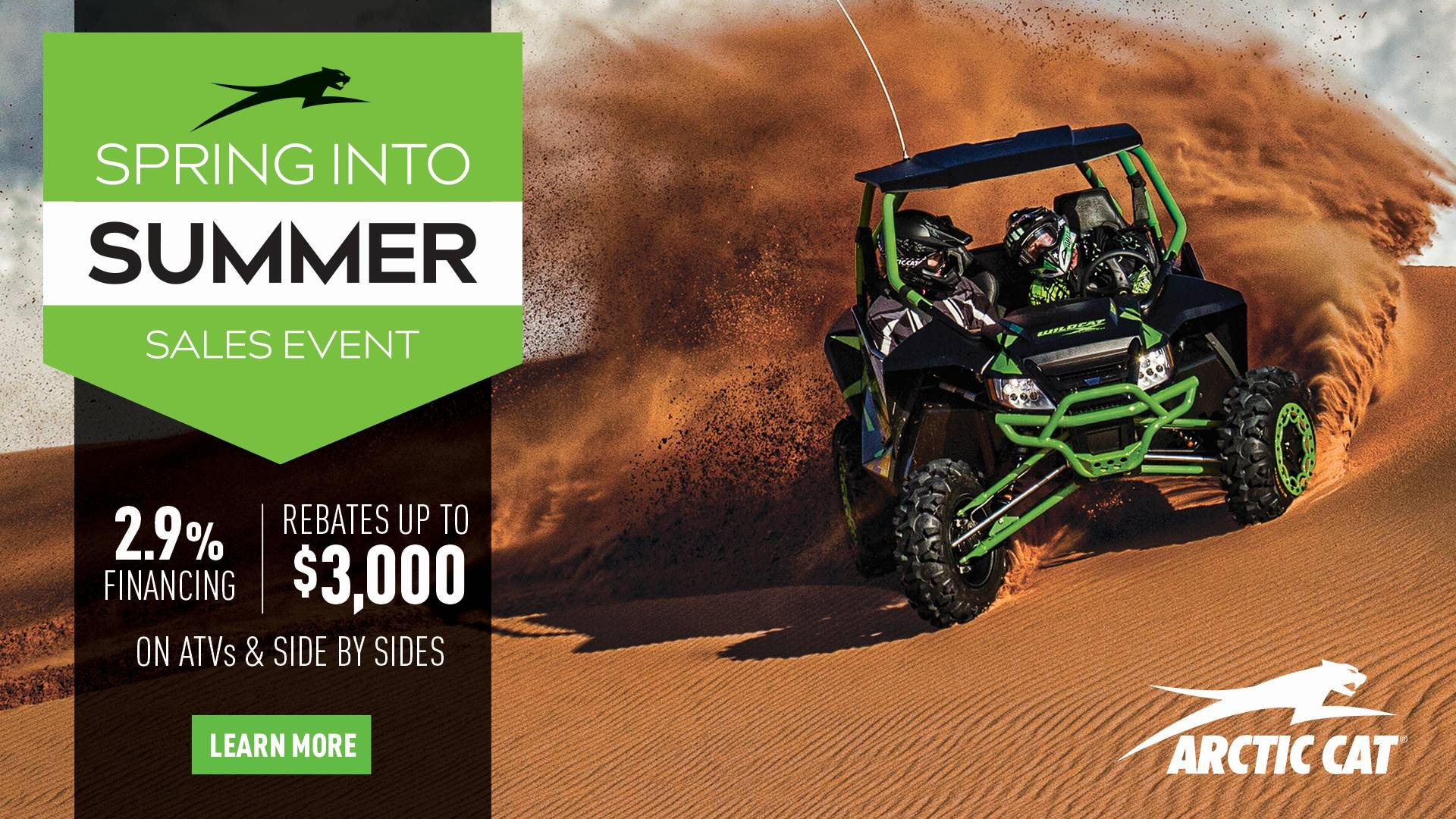 Arctic Cat - Spring Into Summer Sales Event - SxSs Promotional Pricing - MY2017 & MY2015