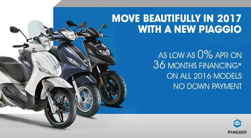 Piaggio MOVE BEAUTIFULLY IN 2017 WITH PIAGGIO