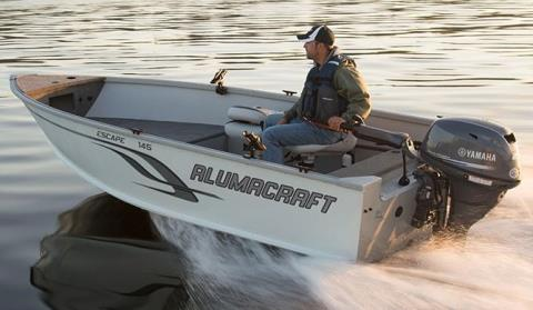 2015 Alumacraft Escape 145 Tiller in Black River Falls, Wisconsin