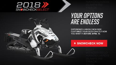 2018 Polaris 800 PRO-RMK 163 3 in. SnowCheck Select in Delano, Minnesota